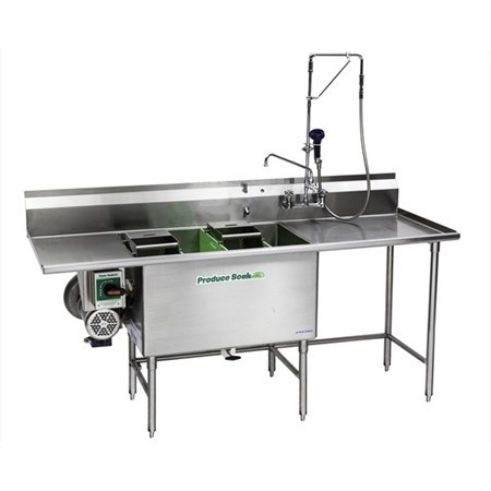 Produce Soak Work Table with Sink